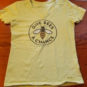 Life is Good Give Bees a Chance tee